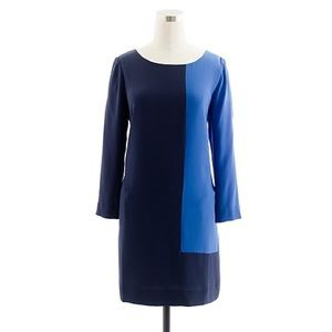 Blue Jules Shift In Colorblock Navy  Dress Size 8